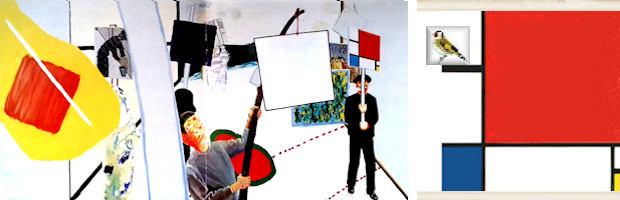 De schilderijenoptocht van 1978 te Machelen Olieverf op doek 200 x 400 cm Roger Raveel collectie museum Arnhem sinds 1980 afb uit catalogus