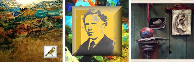 Expo De Wereld van Vincent van Gogh afb Stefan Peters Z.t. 2020 Olieverf op bladgoud op paneel, Oor BK foto's red Puttertjes
