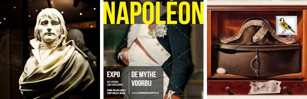 Expo Luik-guillemins - europa expo Affice Napoleon voorbij de mythe View of the show © Europa Schilderij met tweekantige steek Bert Kinderdijk