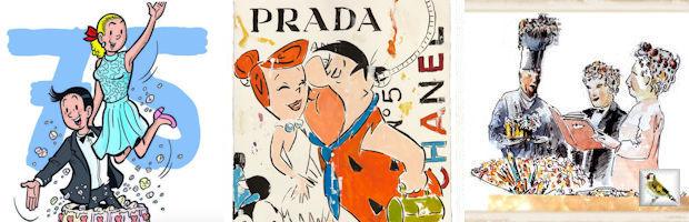 Op strip vakantie in Vlaanderen en Nederland afb campagnebeeld SU Heiner Meyer Heroes on Paper Illustratie BK