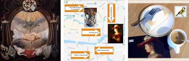 afb Geschilderd huwelijksbord 17de eeuwse hulde aan het bruidspaar Fries Museum Leeuwarden 2018