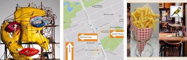afb Jean Tinguely en Niki de Saint Phalle le Cyclop Frietje bij Gruter Willemsparkweg Amsterdam